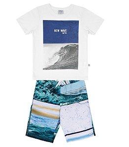 Conjunto masculino bermuda e camiseta de manga curta - Rovitex