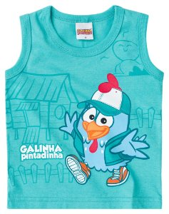 Camiseta regata masculina -  Galinha Pintadinha- Brandili