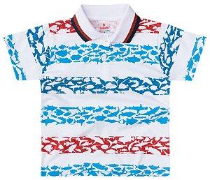 Camisa polo masculina estampada - Brandili