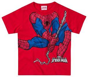 Camiseta masculina manga curta - Homem aranha- Brandili