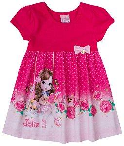 Vestido estampado feminino - Jolie - Brandili