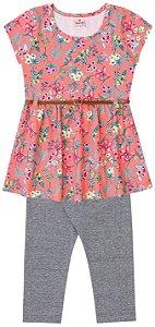 Conjunto feminino vestido e calça legging - Brandili