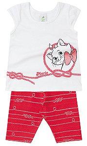 Conjunto feminino estampado calça corsário e camiseta - Marie - Brandili