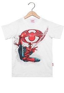 Camiseta  Manga Curta Masculina - Homem Aranha -  Brandili