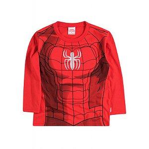 Camiseta Manga Longa -  Homem Aranha- Brandili