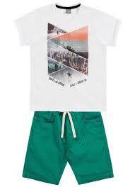 Conjunto masculino bermuda e camiseta manga curta - Brandili Mundi