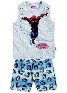 Conjunto masculino bermuda e camiseta regata - Homem Aranha – Brandili