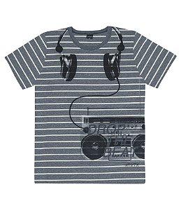 Camiseta Masculina Listrada Juvenil Rovitex