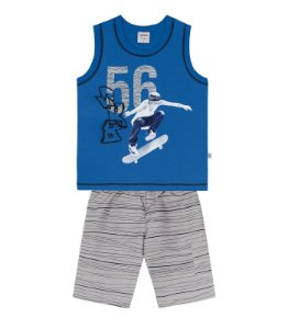 Conjunto masculino bermuda e camiseta sem manga - Rovitex