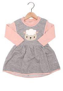 Vestido infantil com blusa manga longa - Rovitex