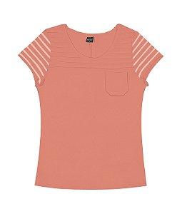 Camiseta Feminina Manga Curta - Adulto -  Rovitex