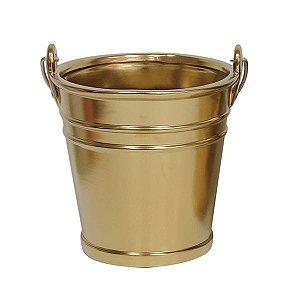 Cachepot de Cerâmica Dourado Pequeno 16,5x16 cm