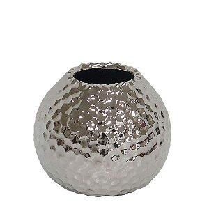 Vaso de Cerâmica Prateado - 9x7 cm