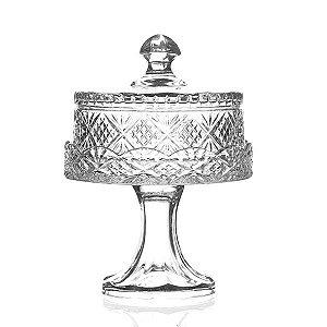 Boleira de Cristal Lapidado -19x27 cm
