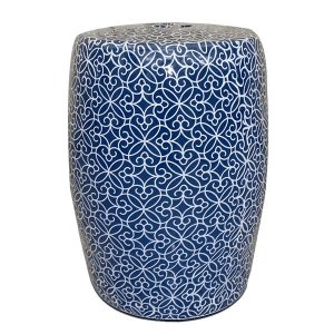 Seat Garden Azul Mosaico - Banqueta de Cerâmica 30x46 cm