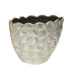 Cachepot de Cerâmica Dourado - 28x22 cm