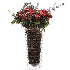 Vaso de Vidro - 14x29,5 cm
