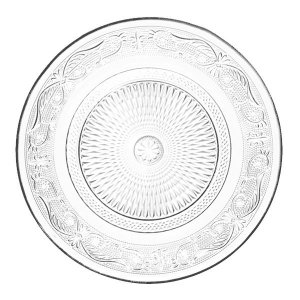 Conjunto de 6 Pratos de Vidro - 1,5x22,5 cm