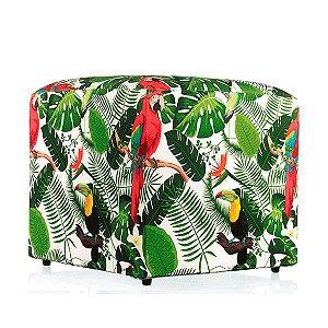 Puff Tropical Tucanos - 52x52 cm