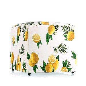 Puff Tropical Limões - 52x52 cm
