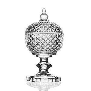 Bombonière de Cristal com Pé - 9x19 cm