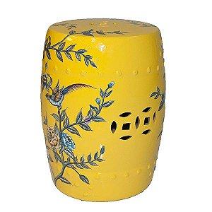Seat Garden Amarelo - Banqueta de Cerâmica - 30x46 cm