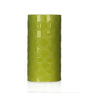 Cachepot de Cerâmica Verde - 13,5 x 26,5 cm