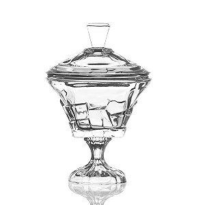 Bombonière de Cristal com Pé - 18,5x28 cm