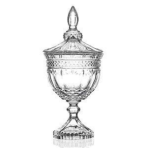 Bombonière de Cristal com Pé - 11 x 24 cm