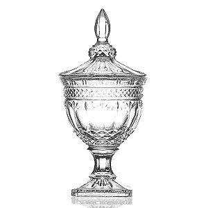 Bombonière de Cristal com Pé - 18 x 38 cm