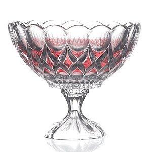 Fruteira de Vidro Vermelha - 22 x 19 cm