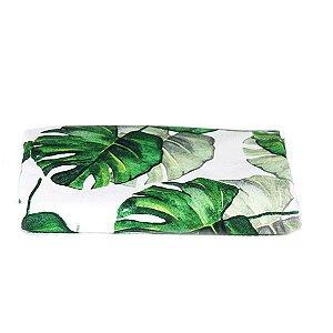 Toalha de Mesa Tropical Folhas Verdes - 1,55x1,55 cm