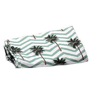 Toalha de Mesa Tropical Coqueiros - 1,55x1,55 cm