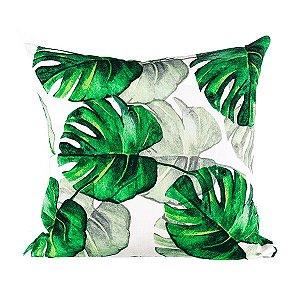 Capa para Almofada Tropical Folhas Verdes - 44x43cm