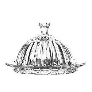 Queijeira Pequena de Cristal - 20x13,5 cm