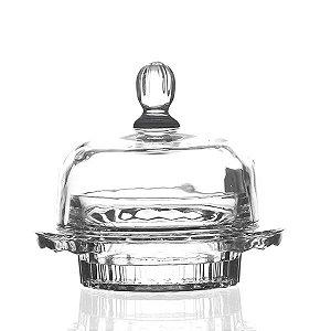 Manteigueira de Cristal - 14x11 cm