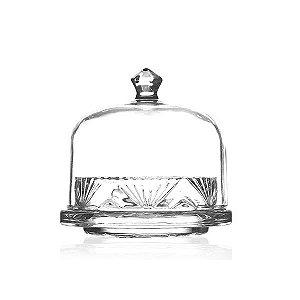Manteigueira Pequena de Cristal - 12,5x11 cm