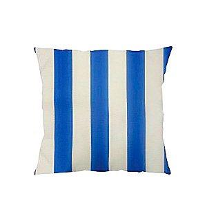 Capa para Almofada Listrada Azul -43 x 43 cm