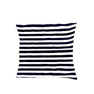 Capa para Almofada Listrada Azul Marinho - 43 x 43 cm