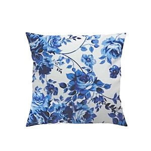 Capa para Almofada Rosas Azuis - 43 x 43 cm