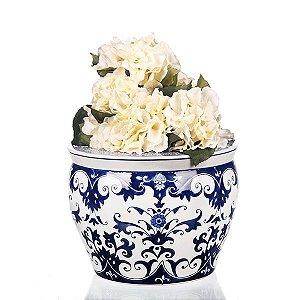 Vaso de Cerâmica Estampado - 34,5x25,5 cm