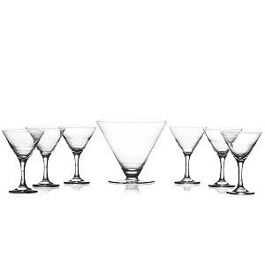 Jogo de Sobremesa de Vidro Elegance 7 Peças