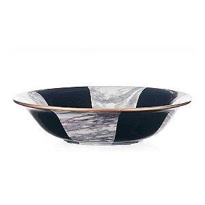 Centro de Mesa de Cerâmica - 35x8 cm