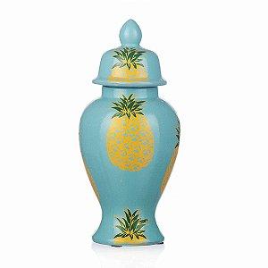 Vaso de Cerâmica Abacaxis - 15x31 cm