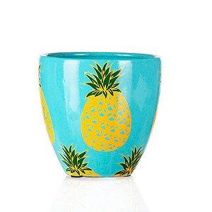 Vaso de Cerâmica Abacaxis - 17,5x16 cm