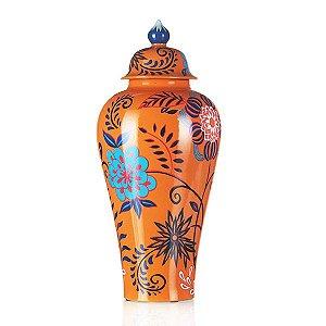 Vaso de Cerâmica Floral - 30x65 cm