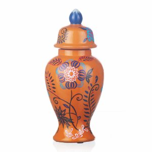 Vaso de Cerâmica Floral - 15x31 cm