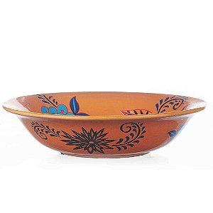 Centro de Mesa de Cerâmica Floral - 35x8 cm