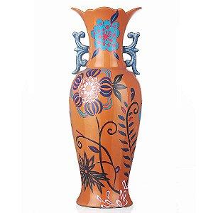 Vaso de Cerâmica Floral - 23x60 cm