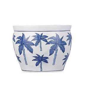 Vaso de Cerâmica com coqueiros - 30x23 cm